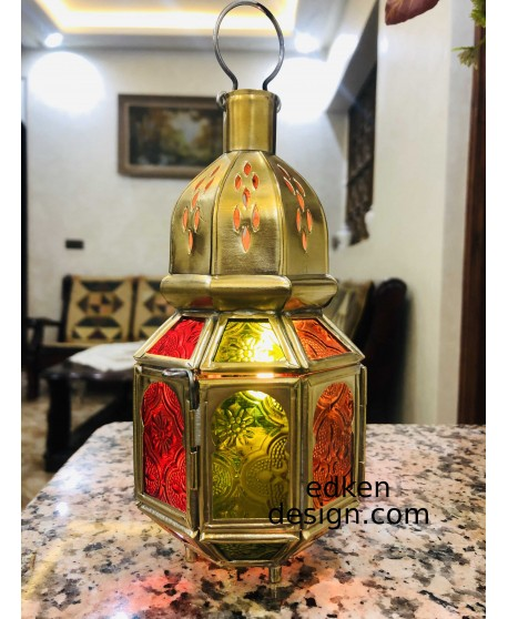 Vintage Moroccan Decor Lanterns brass Hollow Candlestick Candle Holder Windproof Lantern Candle Holders For Wedding