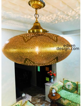 Pendant Light Brass Vintage...