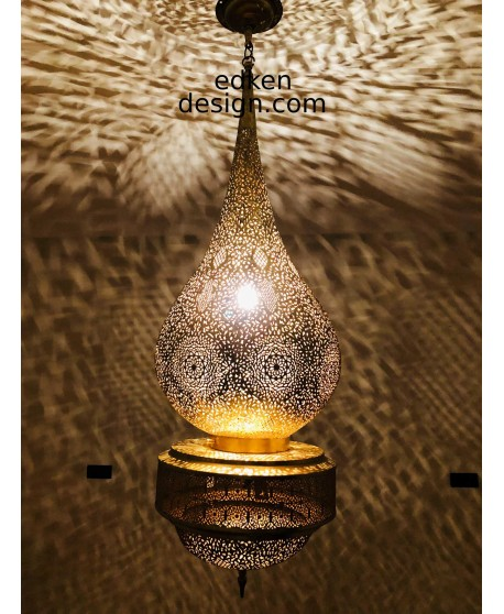 Moroccan large light fixture, brass ceiling light, pendant light, Moroccan lamp shade, Moroccan lighting.
