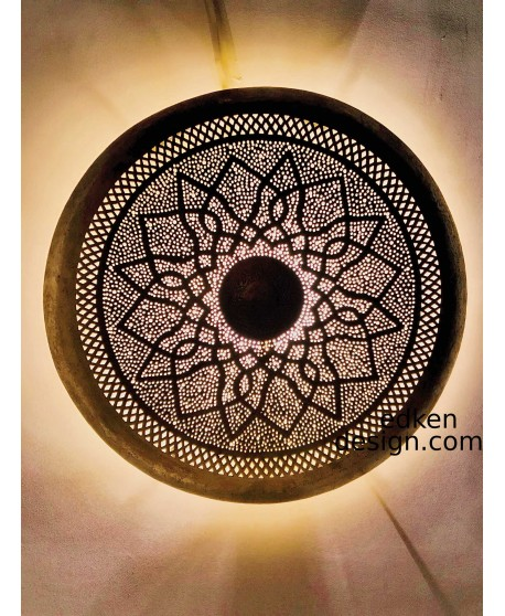Moroccan lamp ,Moroccan sconce , wall  sconce , traditionel sconce Round In Brass Home Decore