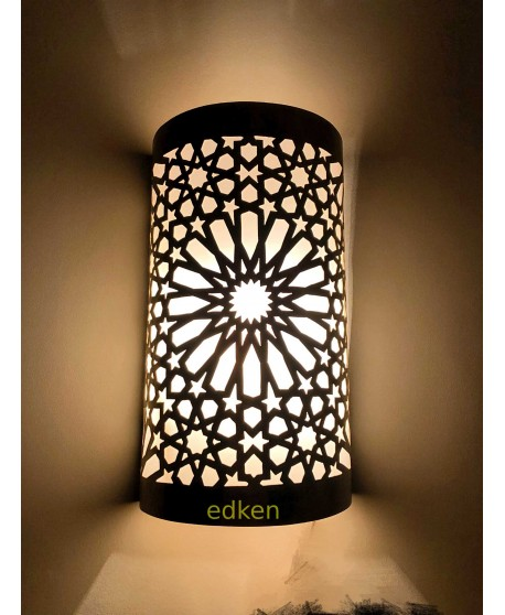 Set Of 2 Light Moroccan Wall Lamp Wall Sconce Edken Design