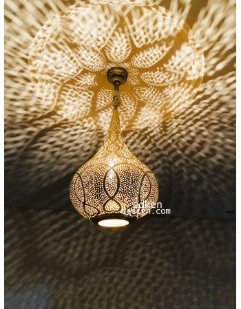 Moroccan Pendant Light Br Finished