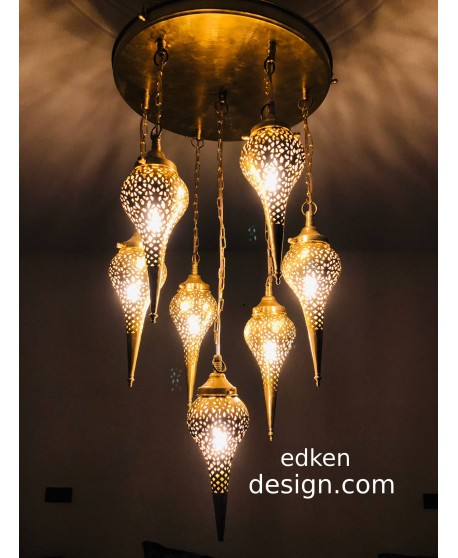 Moroccan lamps Ceiling Pendant light Fixture Brass