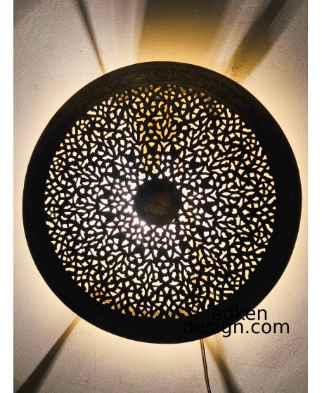 Moroccan Wall lamp sconce, Moroccan Interior Home Deco 30cm Round