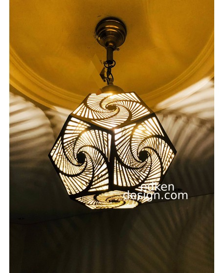 Moroccan Pendant Light Brass Finished Antique Vintage, Moroccan Lamp Handmade Engraved, New Home Decor