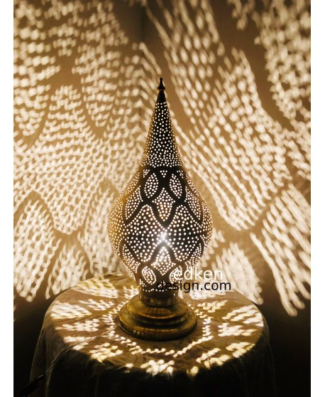 Moroccan Table Lamp, Brass Table Lamp, Mosaic Lamps, Living Room Table Lamp, Bedside Table Lamp
