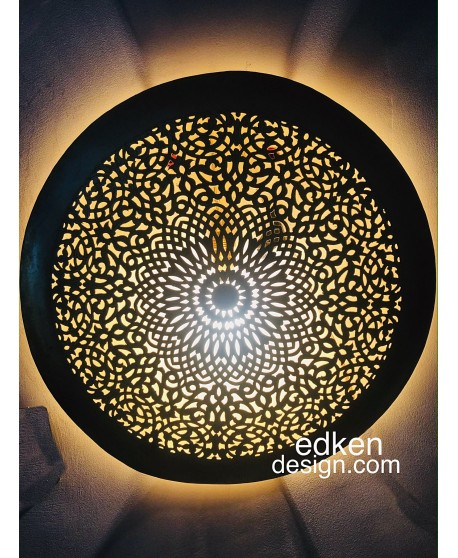 Moroccan wall light ornate decor round, wall lamp Brass night light lamp shade 40 CM Home Deco