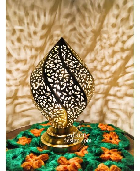 Moroccan Lamp table, Handmade Brass Lamp Style Moorish Modern lamp Vtg pendant Mood Light, Brass Desk Lamp.