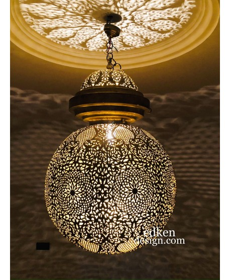 Large Moroccan Pendant Lights , Moroccan Lamp, Hanging Chandelier Ceiling Fixture Handemade Lighting Decoration