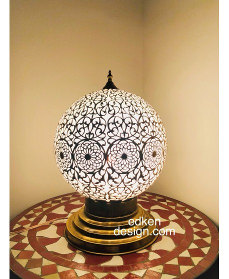 Moroccan Table Lamp White,Moroccan light table,Home Decore,Table Lamp,Hand Made
