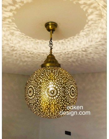 Ceiling Pendant Lamp Brass...