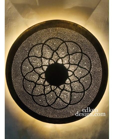 Wall Sconce Round Modern Design Brass