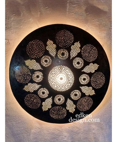 Moroccan Wall Lamp ,Moroccan Sconce , Wall Sconce , Traditionel Sconce Round In Brass Home Decore