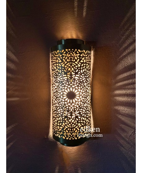 Set Of 2 ,Moroccan Handmade Brass Wall Lights Fixture Moroccan Sconces Lamps Home Deco Hand Made