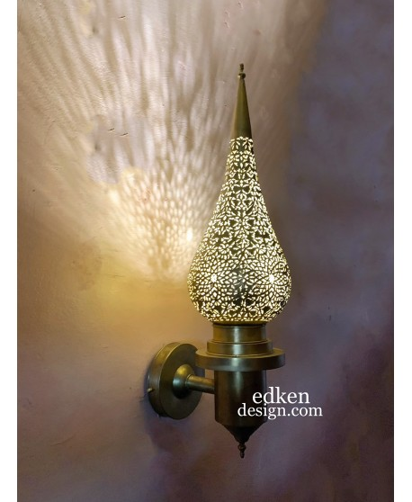 Moroccan Brass Wall Light,Sconce Moroccan Arts And Crafts,Moroccan Design, Moroccan lamp sconce