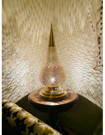 Moroccan Lamp Table Brass...