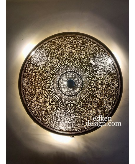 Amazing MOROCCAN Wall LAMPS SCONCE Round Brass HANDMADE HOME DECO 1M