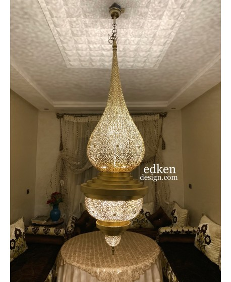 Large Moroccan Ceiling Pendant , Antique Brass Lamp , Moroccan Pendant Lighting , Chandelier lighting , Moroccan Ceiling lamps
