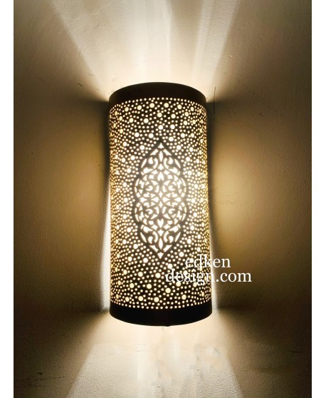 Set Of 2 Wall Sconce Light , Moroccan Wall Lamp, Moroccan Wall Lights, Lampshades Morocco, Wall Light, Brass Wall Lamp Engraved