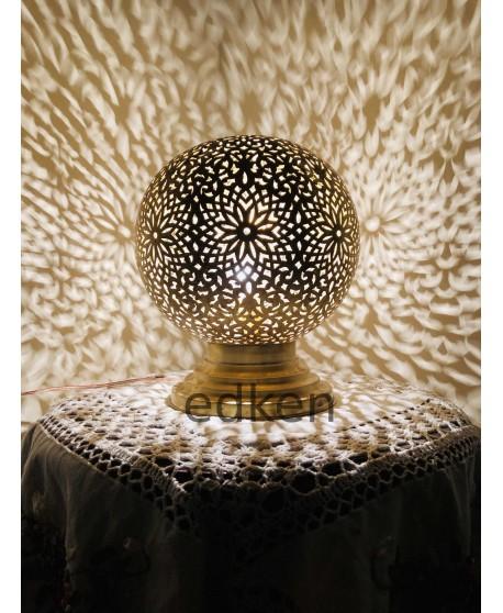 Moroccan Lamp table, Handmade Brass Lamp Style Moorish Modern lamp , Brass Desk Lamp.